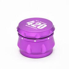 """""""It's Always 420…""""Crusher Drum 2.5"""" 4 Piece Tobacco Spice Herb Grinder-Purple"""