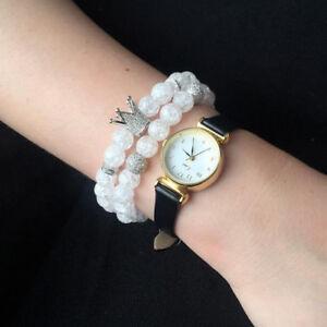 New Luxury Women Crystal Beads Micro Pave CZ King Crown & Balls Charm Bracelets