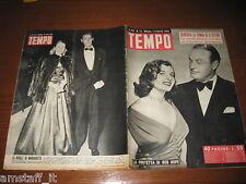 RIVISTA TEMPO 1950/13=CORINNE CALVET=BOB HOPE=RAFFAELE VIVIANI=MARGARETH ROSE=