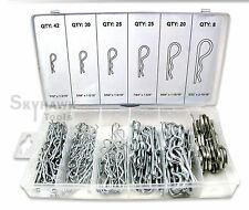 150 PC IN MECHANICAL HITCH HAIR R Cotter PIN TRACTOR CLIP ASSORTMENT
