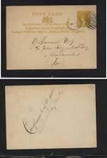 Ceylon postal card  A cancel