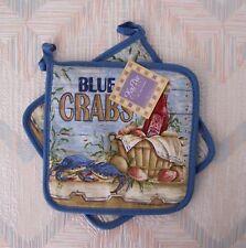 Crab Potholder Set Blue Crabs Pattern Kay Dee