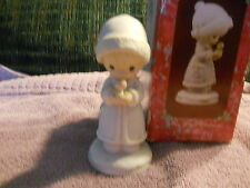 "PRECIOUS MOMENTS   1991  ""MAY YOUR CHRISTMAS BE MERRY"" SAMUAL J BUTCHER 524166"