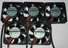 5 X Sunon 50 mm Ultra Quiet Cooling Fans - 12 V - 10 CFM - 22 dB - KDE1205PHV3
