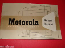 Motorola Televison Models Owners Manual pre-1963 Bilt-in VHF-UHF Antenna