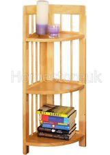 3 niveles Esquina Plegable Estante Libro Funda Pantalla almacenamiento Madera Unidad Rack 831