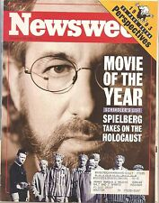 Newsweek December 20 1993 Movie of the Year Schinder's List~1993 Perspectives