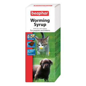 Beaphar Worming Syrup For Puppies & Kittens 45ml