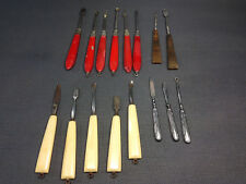 Lot anciens petits outils instruments de manucure vintage argent Nogent