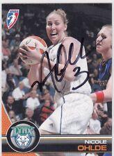 Autographed Nicole Ohlde 2008 Wnba Basketball Card Minnesota Lynx 7
