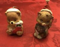 Vintage JSNY Christmas Bell Ornaments Pair Of 2  3inches Tall