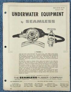 Vintage Scuba 1963 Seamless Nemrod Dealer Price List Regulators Spearguns Knives
