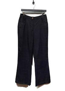 Chanel Resort 2001 Black Silk Trousers