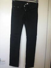 K31) WOMENS BLACK M.N.G STRAIGHT LEG JEANS ZIP FLY  SIZE 6  LEG 30