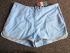 BNWT UK 16/18 Nike Shorts L Light Blue Gym Running Sports Pockets Casual