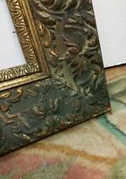 VINTAGE ANTIQUE ORNATE VICTORIAN PICTURE FRAME, GOLD GILT GESSO WOOD FITS 24X30