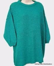 Turquoise Sweater Womens One Size Fits All Sparkle Lightweight Margules Vtg