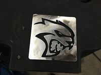 Plasma cut Dodge SRT Hellcat  plaque Metal Man Cave/Garage Wall Art
