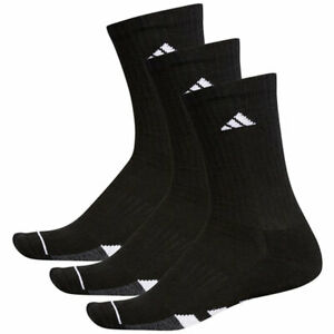 ADIDAS Cushioned 3-Pack Crew Men's Tennis Athletic Socks Size 6-12