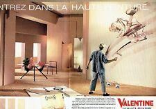 Publicité Advertising 057  1985  Valentine ( 2pages) peinture haute couture