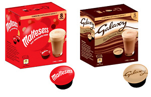 DOLCE GUSTO PODS - HOT CHOCOLATE - GALAXY & MALTESERS COFFEE MACHINE PODS