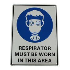 3x Warning Respirator Must Be Worn in This Area Sign 300*225mm Metal Security
