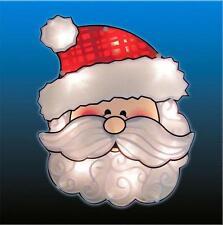 """Lighted Santa Window or Door Hanging Indoor/Outdoor Christmas Decor 12""""H NEW"""
