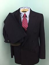 Vintage Oxxford Clothes Dbl. Breasted Navy Suit Excellent Used Condition