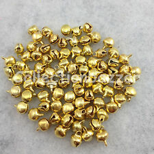 50pcs Gold Metal Small Jingle Bell for Gift Decoration  5mm*7mm