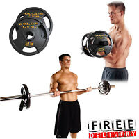 Olympic Weight Set Plate Set 110 Lbs Lift Handle Combo Fitness Workout Home Gym