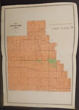 Illinois Christian County Map South Fork Township c1930 Double Page W20#24