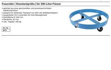 Fassroller  Standardgröße  für 200-Liter Fässer