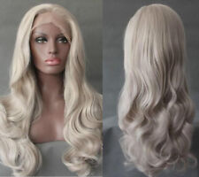 AU STOCK 24'' Lace Front Wig Blonde Fashion Ladies Synthetic Wavy Heat Safe Hair
