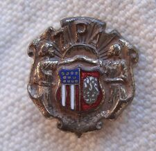 Vintage Z.P.A. Pin,metal,enameled colors,people & flags design -organization,old