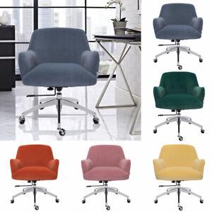 Velvet Office Chair Home Swivel Computer Desk Chair Ergonomic Adjustable Height