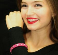 Marc by Marc Jacobs Resin SCREW HEAD Bangle Cuff Bracelet HOT PINK SILVER LUCITE