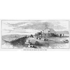 Egitto stazione vicino al Cairo per osservare il transito di Venere-antica stampa 1874