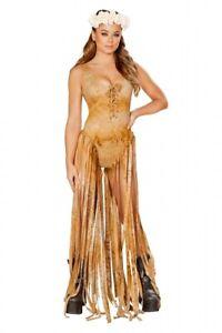 GoGo Body Monokini braun Fransen Gr.36-38 M/L Indianer Kostüm Look Made in USA