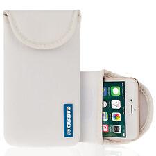 Caseflex Apple iPhone 7 Case, Best Neoprene Pouch / Skin / Cover - White