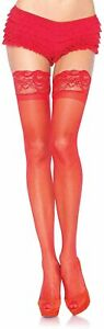 Leg Avenue Women's Stay-Up Lace Top Thigh Highs