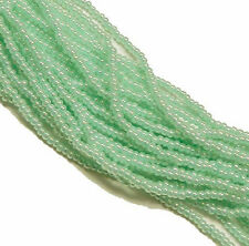 Ceylon Green Czech 11/0 Glass Seed Beads 1 (6 String Hank) Preciosa Jablonex