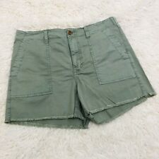 Women's Madewell Olive Green Jean Shorts Size 27 Nwt Bottoms