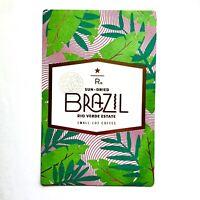 2019 Starbucks Reserve Brazil Rio Verde EstateChina Coffee Taster Card US seller