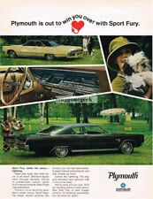 1967 Plymouth SPORT FURY Dark Copper Metallic 2-door Fast Top Vtg Print Ad