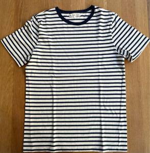Merz b Schwanen Kurzarm T-Shirt blau-weiß gestreift - Gr 6/L - sehr gut erhalten