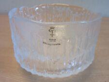 """Skruf, Sweden Mid Century Full lead Crystal bowl 6"""""""