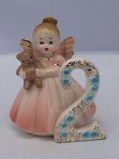 Vintage Josef Originals Birthday Angel Girl Figurine 2 Year Old with Tag, teddy