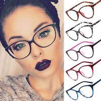 Women Men Round Transparent Clear Lens Glasses Frame Fashion Flat Mirror Unisex