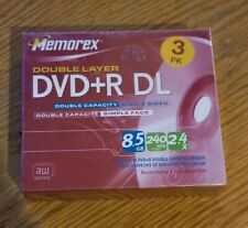 Memorex DVD+R DL Double Layer 8.5 GB 240 min Video 2.4X  3-Pack