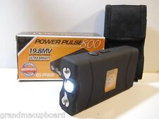 Power Pulse 800 19.8 Million Volts Ultra Compact Black Rechargeable Stun Gun LED